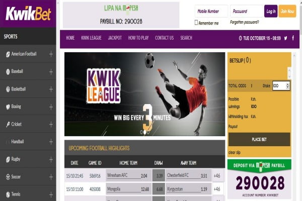 KwikBet Registration, App, Bonus, PayBill Number and Contacts