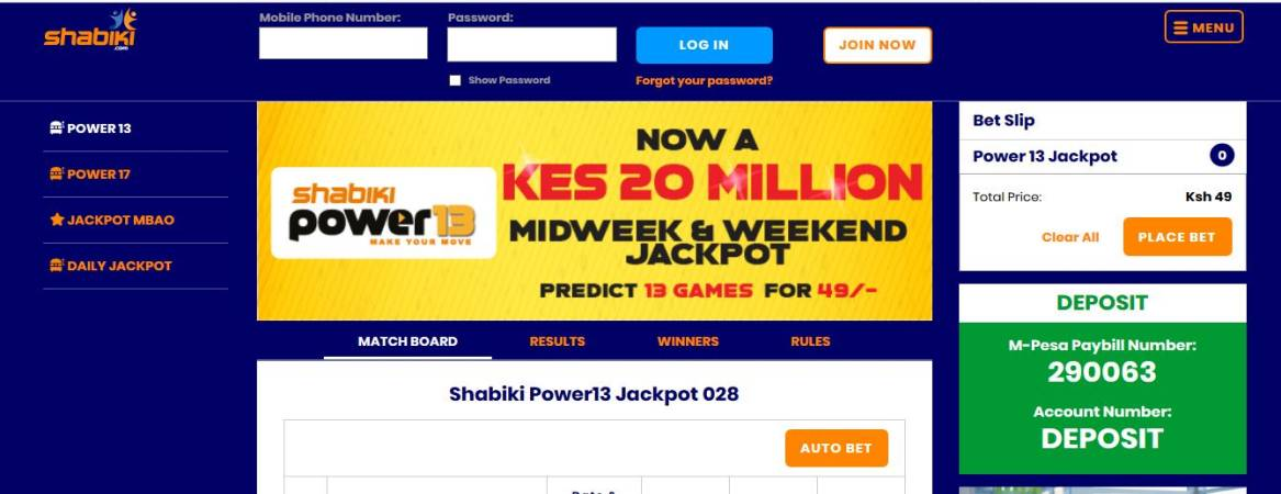 Shabiki Power 13 Weekend Jackpot Predictions