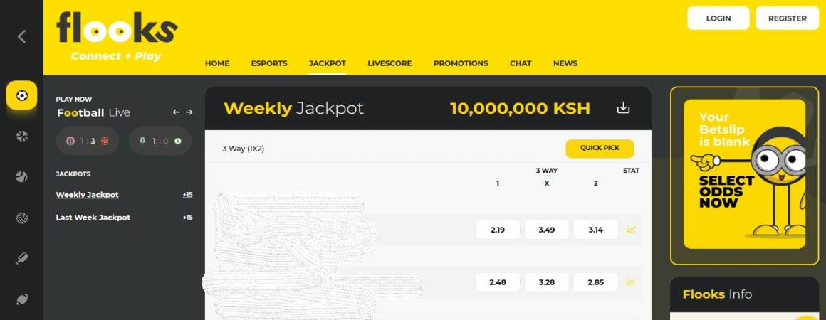 Flooks Bet Jackpot Predictions