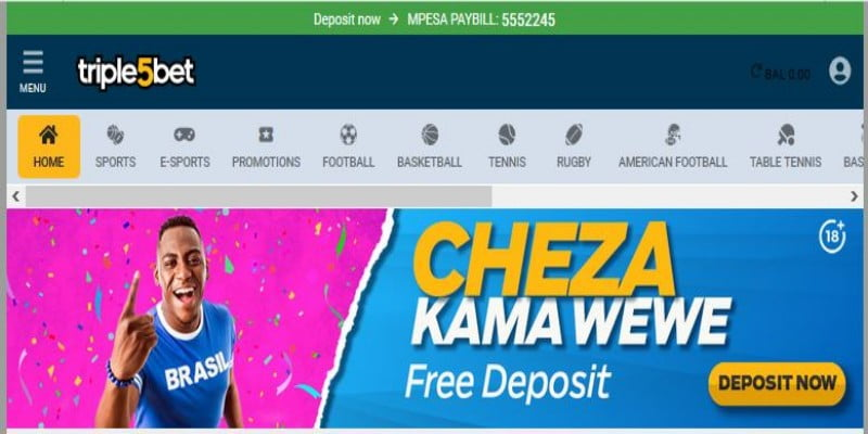 Triple5Bet Registration, Login, Bonuses, Free Bet, Jackpot, App, PayBill Number and Contacts