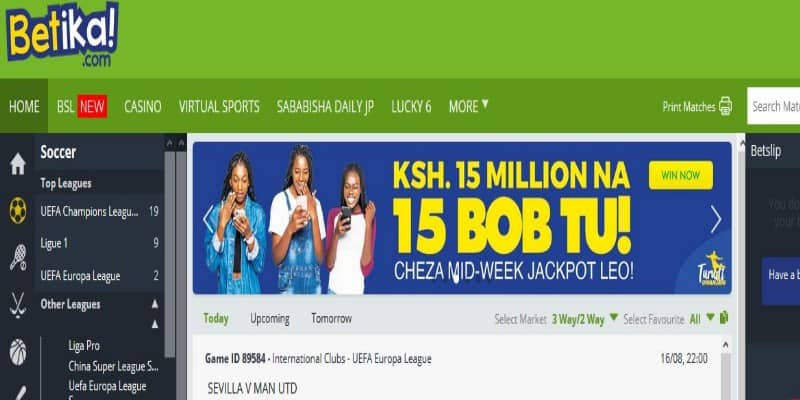 Betika Midweek Jackpot Results, Bonuses and Jackpot Winners