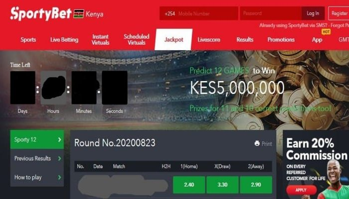 23rd & 24th October SportyBet Jackpot Predictions