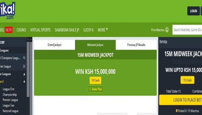 21st & 22nd April Betika Midweek Jackpot Predictions