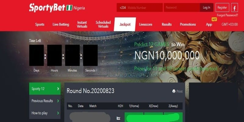 SportyBet Nigeria Jackpot Predictions